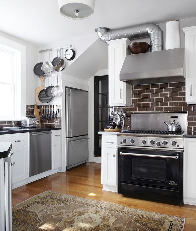 Brown Subway Tile Backsplash Transitional kitchen Urrutia Design