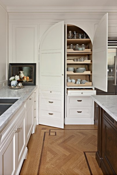 Hidden Pantry Transitional Kitchen Mcgill Design Group
