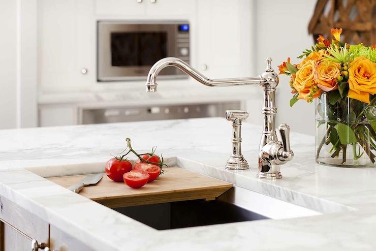 island sink cutting board design ideas