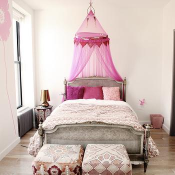 Pink Bed Canopy, Eclectic, girl's room, A little Muse
