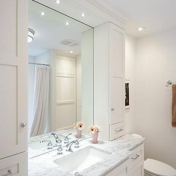Contemporary, bathroom, Benjamin Moore Cloud White, Lejla Eden Interiors