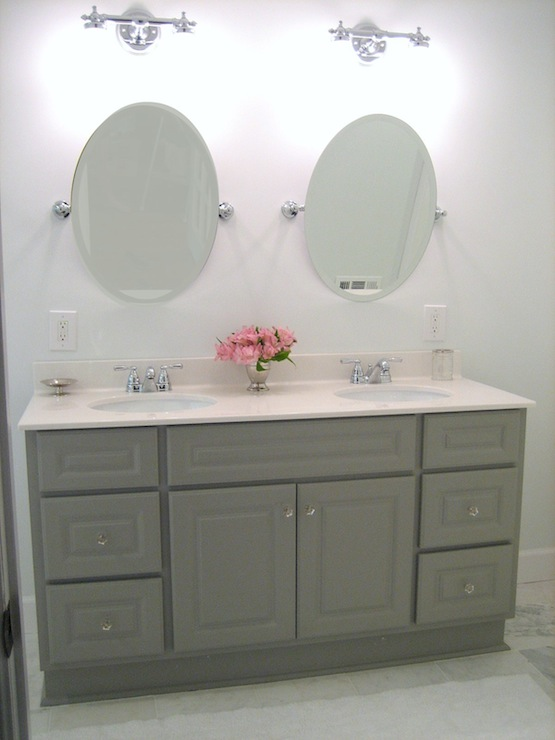 Bathroom Cabinets Painted Gray Transitional Bathroom Benjamin Moore Coventry Gray