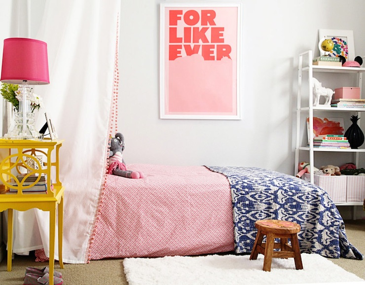 DIY Girl\'s Bed Canopy - Contemporary - girl\'s room - Benjamin Moore ...