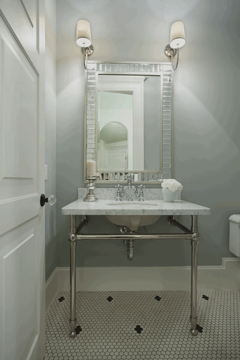 Washstand Painted Gray Design Ideas