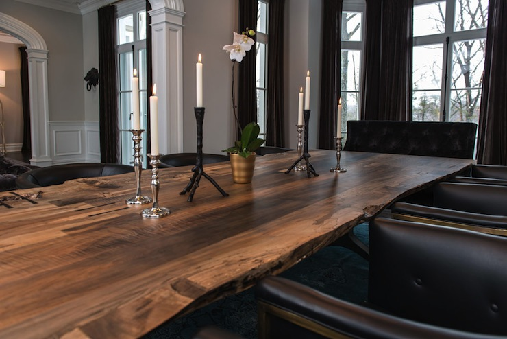 Reclaimed Wood Dining Table Contemporary Dining Room Vanessa - Refurbished wood dining room table