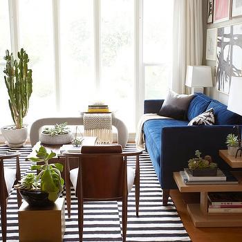 Ikea Rug, Eclectic, living room, Benjamin Moore Half Moon Crest, Emily Henderson