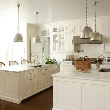 Double Kitchen Islands, Traditional, kitchen, Veranda