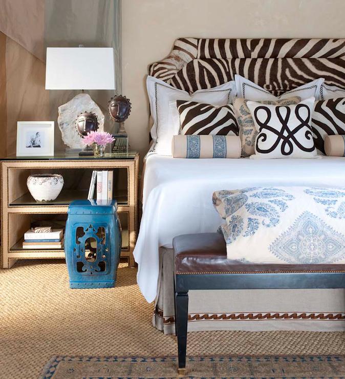 zebra headboard  transitional  bedroom  ceylon et cie, Headboard designs