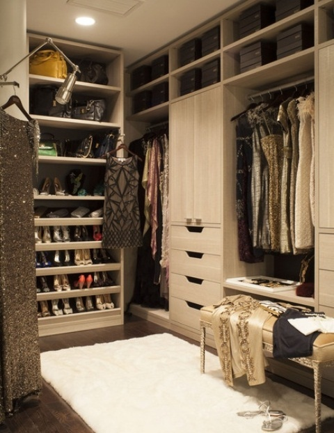 luxurious closet transitional closet california closets
