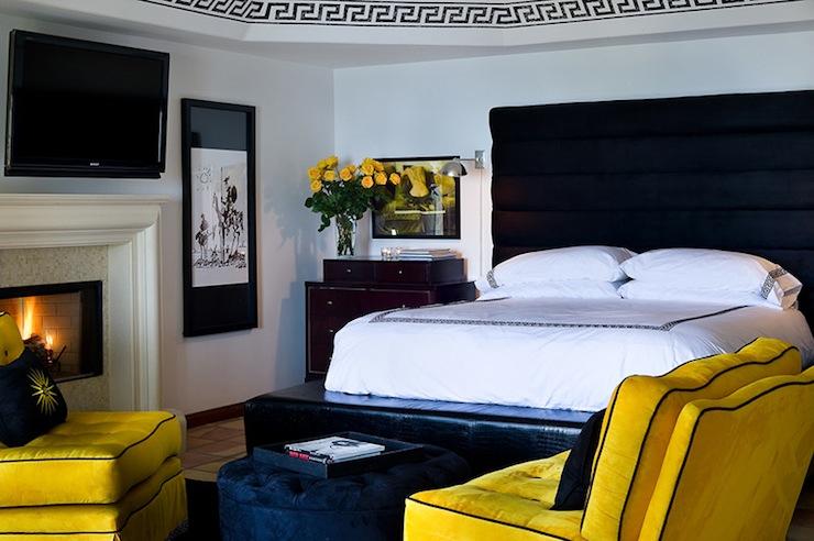 Yellow and Black Bedroom - Eclectic - bedroom - Tracy Murdock