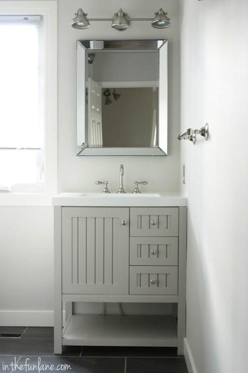 Bathroom cabinets on pinterest small sink bathroom mirror cabinet - Sharkey Gray Cottage Bathroom Martha Stewart Sharkey