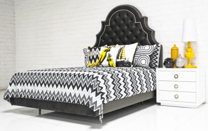 Zig Zag Bedding In Yellow Gray Black I Roomservicestore