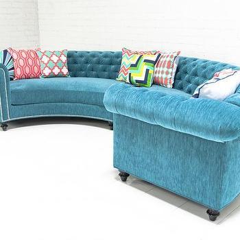 Canvas Chesterfield Sofa