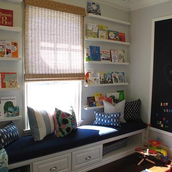 Ikea Ribba Ledge, Traditional, boy's room, Amber Interiors