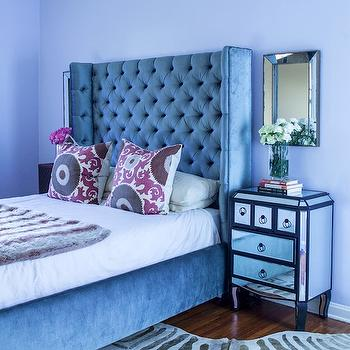 Gray Wingback Headboard, Contemporary, bedroom, Song of Style