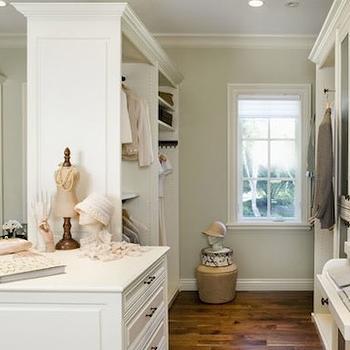 Glass Front Closet Cabinets, Traditional, closet, Designer Closets