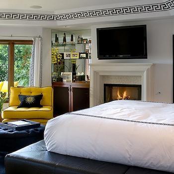 Black and Yellow Bedroom, Eclectic, bedroom, Tracy Murdock