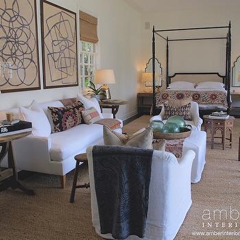 Bedroom Lounge Space, Eclectic, bedroom, Amber Interiors