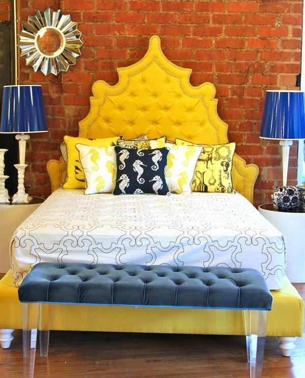yellow casablanca bed i roomservicestore view full size