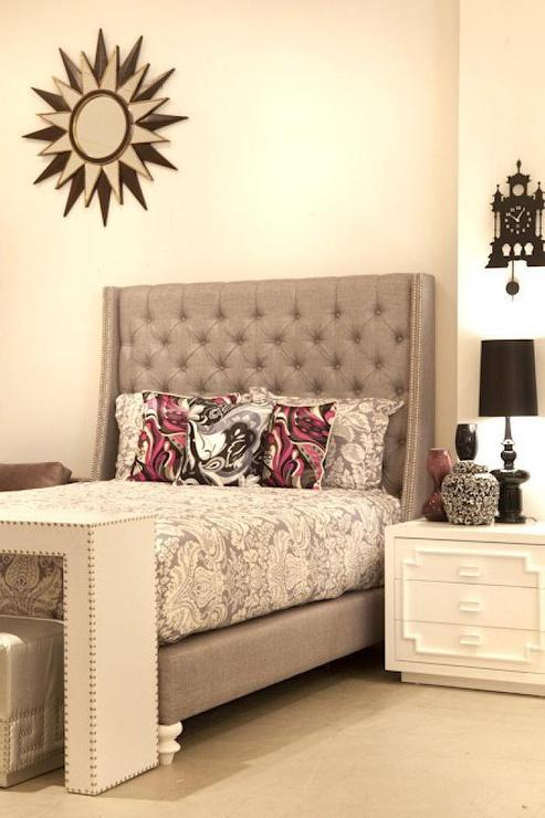St Tropez Bed In Silver Grey I Roomservice