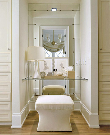Dressing table alcove transitional closet bhg for Bathroom dressing ideas