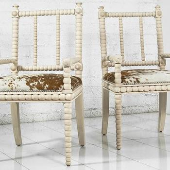 Cowhide Brown And Ivory Butterfly Chair