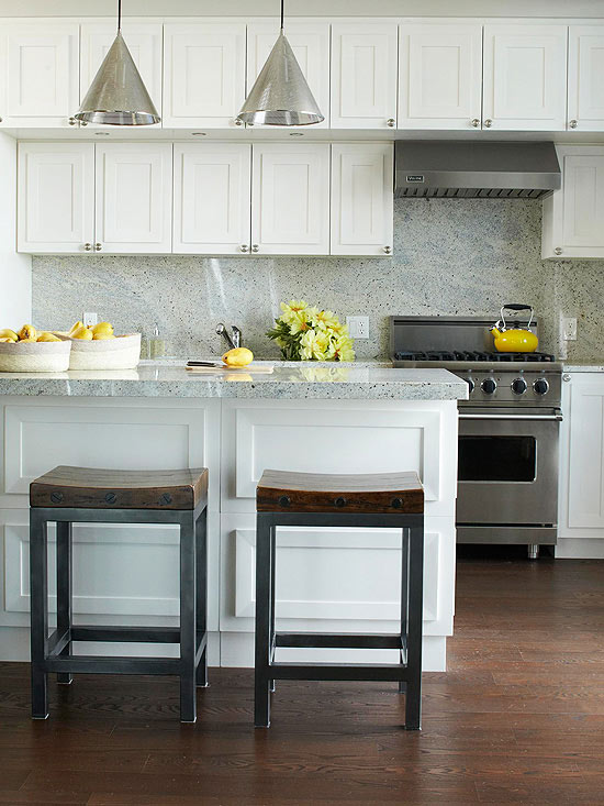 Granite countertops and backsplash contemporary kitchen bhg Kitchen backsplash ideas bhg