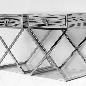 brooklyn side table in white macassar i