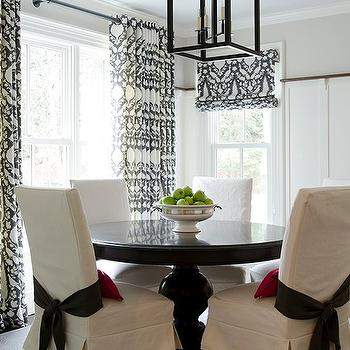Slipcovered Dining Chairs, Transitional, dining room, An Organized Nest
