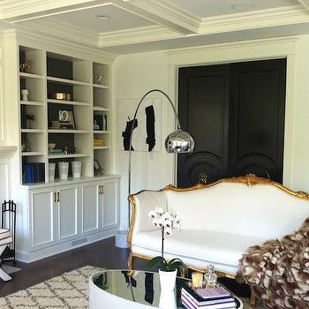 Upholstered Bench Transitional Living Room Sarah Richardson Design