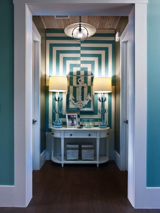 Blue Foyer And Hallway : Turquoise foyer contemporary entrance sherwin