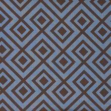 David Hicks La Fiorentina Brown and Blue Fabric I LynnChalk.com