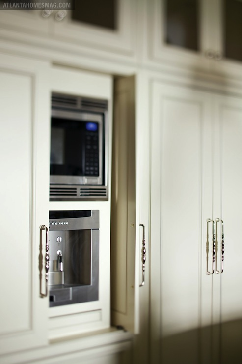 Hidden Microwave And Hidden Coffee Machine Transitional