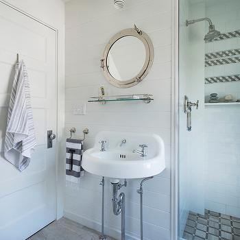Porthole Mirror, Cottage, bathroom, Digs Design Company