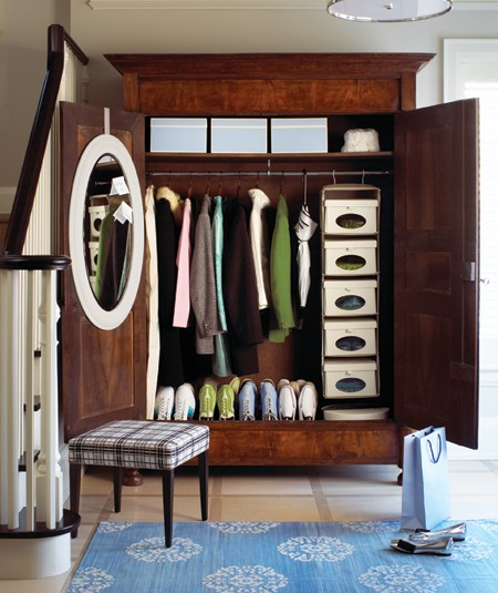 Foyer Closet : Foyer armoire transitional entrance house home