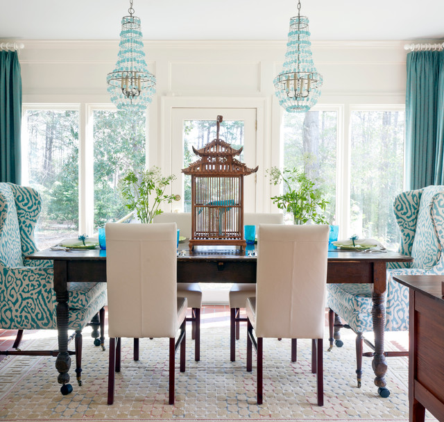 dining table decor ideas.htm turquoise dining room contemporary dining room andrea brooks  turquoise dining room contemporary