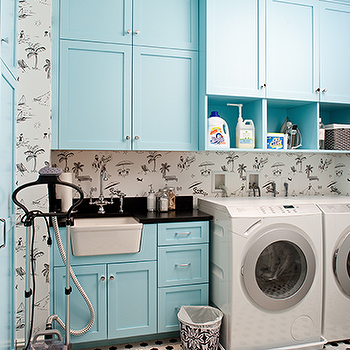 Tiffany Blue laundry Room, Contemporary, laundry room, M. Frederick