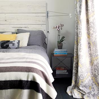 yellow and gray bedroom  contemporary  bedroom  kim stephen,