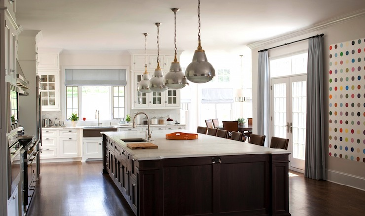 Brown Kitchen Island Transitional Kitchen M Frederick