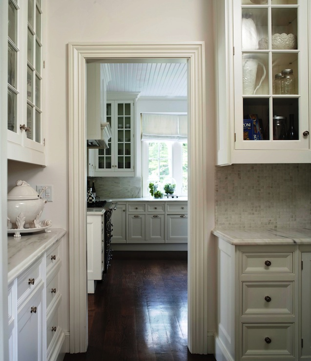 Beveled Door Frame Moldings Transitional Kitchen M