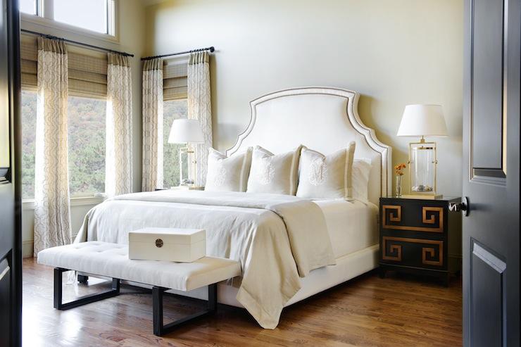 Greek Key Nightstand Transitional Bedroom Sherwin