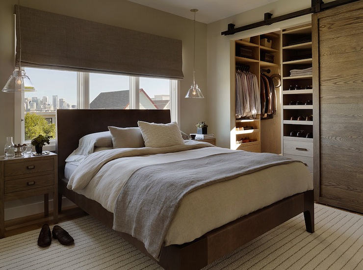 closet barn door modern bedroom jute interior design