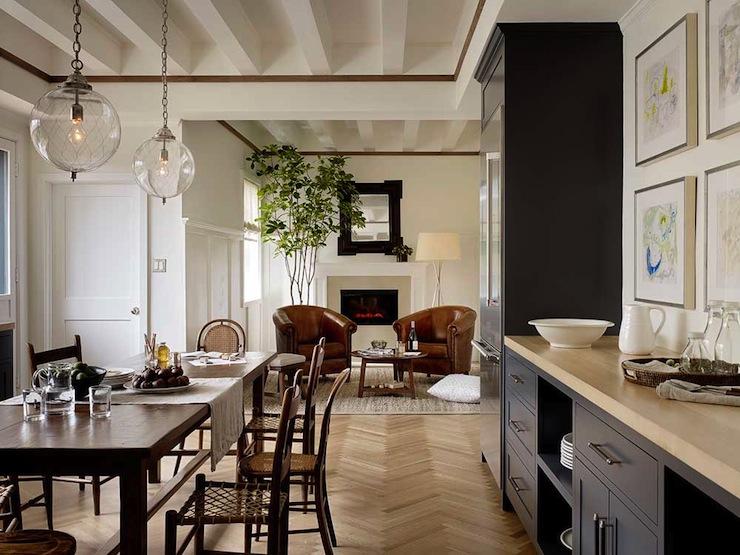 Board And Batten Living Room Modern Living Room Jute