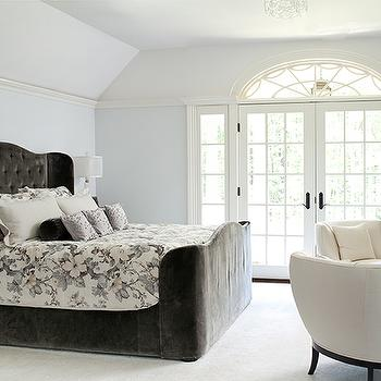Blue and Gray Bedroom, Transitional, bedroom, M. Frederick