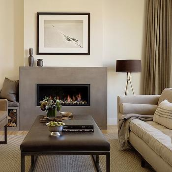 Modern Fireplace, Modern, living room, Jute interior Design