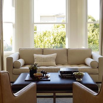 Linen Tufted Sofa, Modern, living room, Jute interior Design