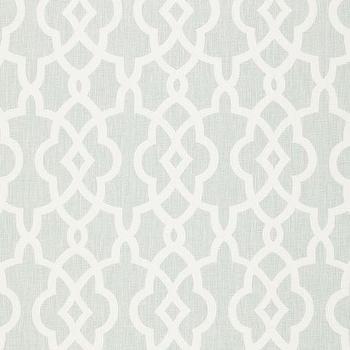 Summer Palace Fret Mineral Fabric I LynnChalk.com