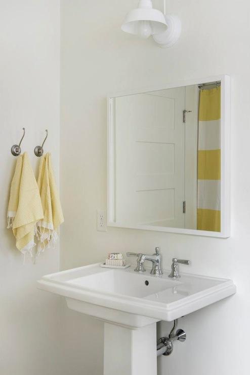 White Barn Light Design Ideas - Barn light bathroom