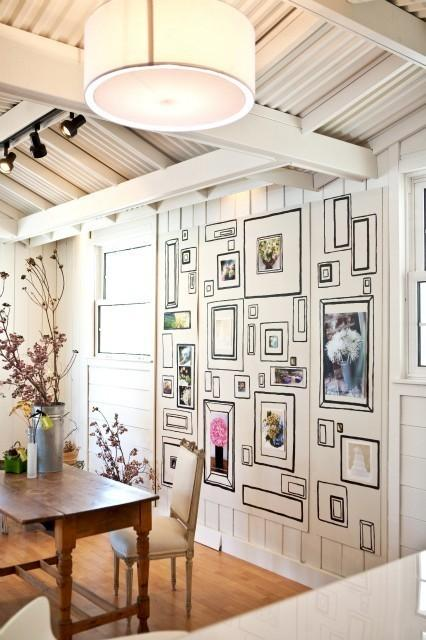 Painted Frames Wall - Eclectic - dining room - Kriste Michelini ...