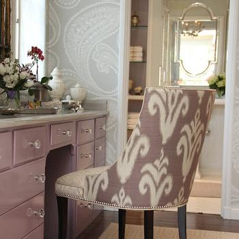 Amazing Purple Vanity And Purple Ikat Chair Amazing Design